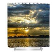 Amazing Rays Shower Curtain