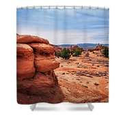 Amazing Rock Formations At Kodachrome Basin State Park, Usa. Shower Curtain
