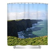 Amazing Scenic Views Of The Cliff's Of Moher Shower Curtain