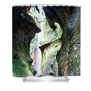 Amazing Vancouver Island Series - Sombrio Cave Waterfall  Inside  Closeup 2. Shower Curtain