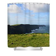 Amazing Views Of The Cliff's Of Moher In Ireland Shower Curtain