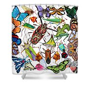 Amazon Insects Shower Curtain