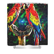 Amazon Parrotts Shower Curtain