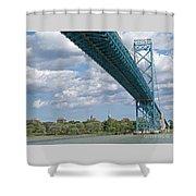 Ambassador Bridge - Windsor Approach Shower Curtain