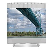 Ambassador Bridge - Windsor Approach Shower Curtain