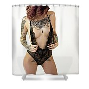 Amber 1 Shower Curtain