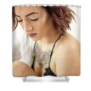 Amber 15 Shower Curtain