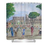 Amber At The Roman Coliseum Shower Curtain