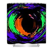 Amber Eye Shower Curtain