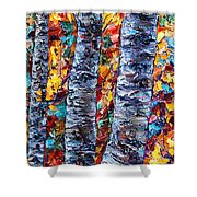 Amber Forest Shower Curtain