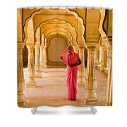Amber Fort Temple Shower Curtain