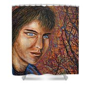 Amber Glow Shower Curtain