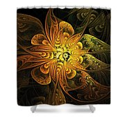 Amber Light Shower Curtain