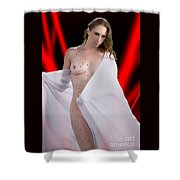 Amber Nude Fine Art Print In Sensual Sexy 5176.02 Shower Curtain