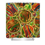 Amber Waves Marles Shower Curtain