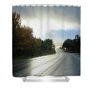 Ambient Autumn Shower Curtain