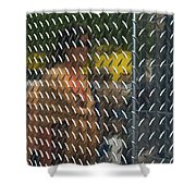 Ambiguity - Stainless Steel Woman Reflection Shower Curtain