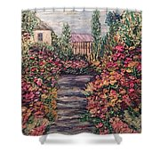 Amelia Park Garden Flowers Shower Curtain