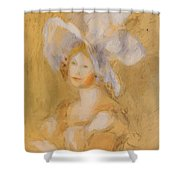 Amelie Dieterie In A White Hat Shower Curtain
