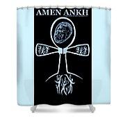 Amen Ankh Indigo Shower Curtain