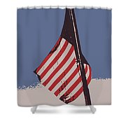 Amercan Flag Shower Curtain