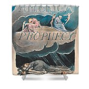 America. A Prophecy. Plate 2 Shower Curtain