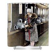 America: Automat, C1925 Shower Curtain