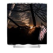 America  Shower Curtain by Kim Loftis