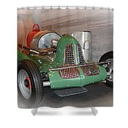 America On Wheels Midget Racer Shower Curtain