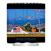 America The Beautiful Poster Shower Curtain