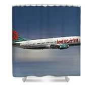 America West Boeing 737-300 Shower Curtain