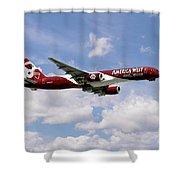 America West Boeing 757 Arizona Cardinals Shower Curtain