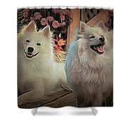 Americain Eskimo Shower Curtain