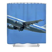 American Airbus A319-0112 N744p Piedmont Pacemaker Los Angeles International Airport May 3 20 Shower Curtain