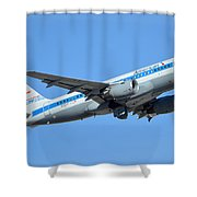 American Airbus A319-0112 N744p Retro Piedmont Pacemaker Phoenix Sky Harbor January 21 2016 Shower Curtain