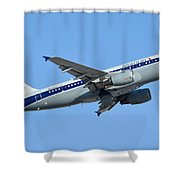 American Airbus A319-112 N745vj Allegheny Vistajet Phoenix Sky Harbor January 19 2016 Shower Curtain