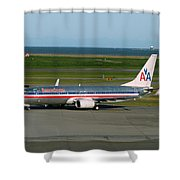 American Airlines 737-800 Shower Curtain