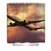 American Airlines 767 N345an Shower Curtain