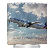 American Airlines A321-231 N917uy Shower Curtain