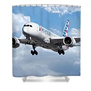 American Airlines Boeing 787 Dreamliner Shower Curtain