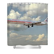 American Airlines Md-80 Shower Curtain