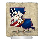 American And Louisiana Pride Shower Curtain