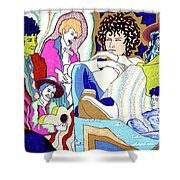 Jelly Roll Bob - Portraits Of Dylan Shower Curtain