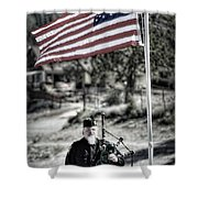 American Bagpiper Shower Curtain