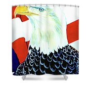 American Bald Eagle Painting #256 Shower Curtain