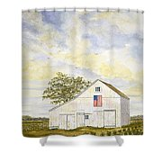 American Barn Shower Curtain