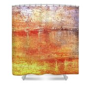 American Beach Cottage Art And Feelings-5 Shower Curtain