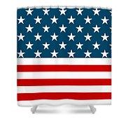 American Beach Towel Shower Curtain