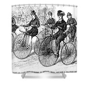 American Bicyclists, 1879 Shower Curtain