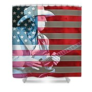 American Bluesman Stevie Ray Vaughan Shower Curtain